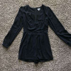 Black long sleeve romper XS